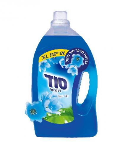 ג'ל לכביסה כחול לכביסה צבעונית ולבנה, 2.5 ליטר סוד