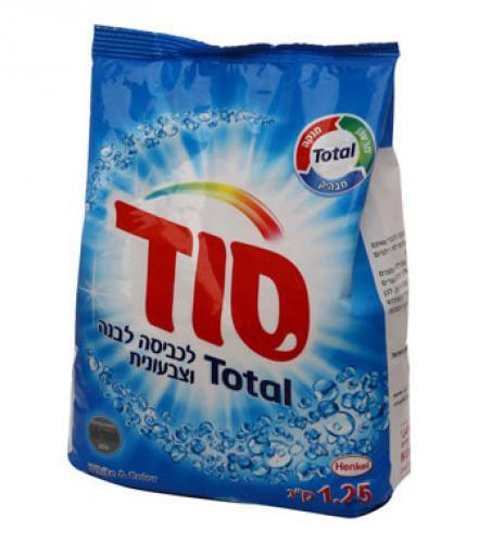 אבקת כביסה בניחוח שושן מרענן לכביסה לבנה וצבעונית סוד , 1.25 ק