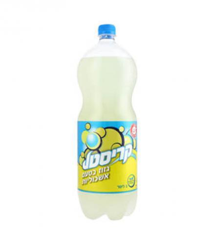 קריסטל מיץ אשכוליות מוגז 2 ליטר