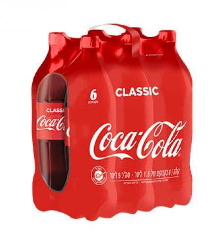 קוקה קולה 1.5 ליטר שישייה