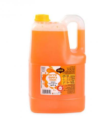 סירופ בטעם תפוז 4 ליטר אחוה