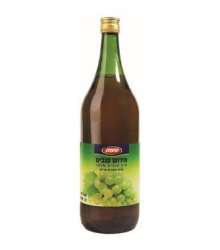 מיץ ענבים לבן 100% טעמן 1.5 ליטר  עד