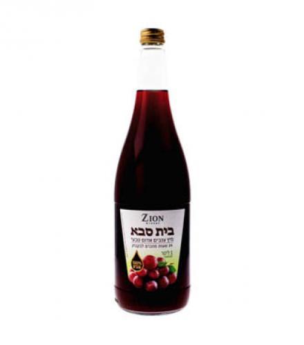 בית סבא מיץ ענבים 1 ליטר יקבי ציון העד