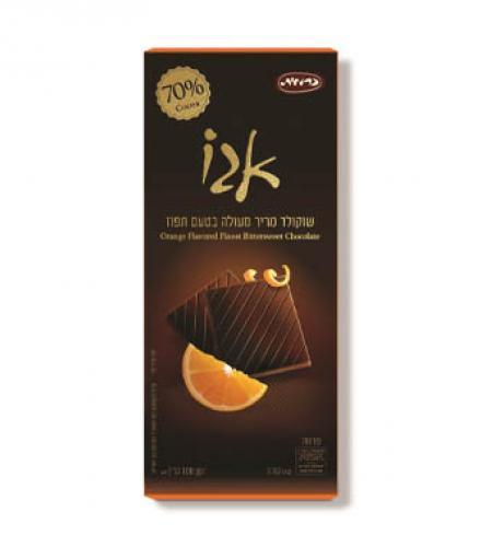שוקולד פרימיום 70% בטעם תפוז 100 גרם כרמית