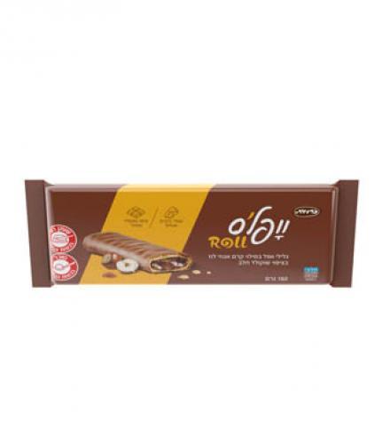 וופל'ס - גלילי וופל במילוי קרם אגוזי לוז מצופה שוקולד 160 גרם כרמית