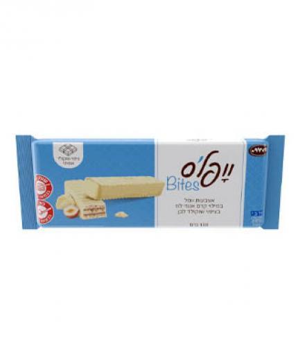 וופלס - וופל במילוי קרם אגוזים בציפוי שוקולד לבן 130 גרם כרמית