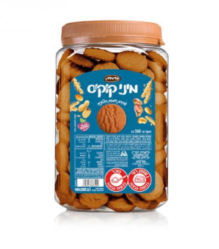 עוגיות מיני קוקיס בטעם חמאת בוטנים 560 גרם כרמית