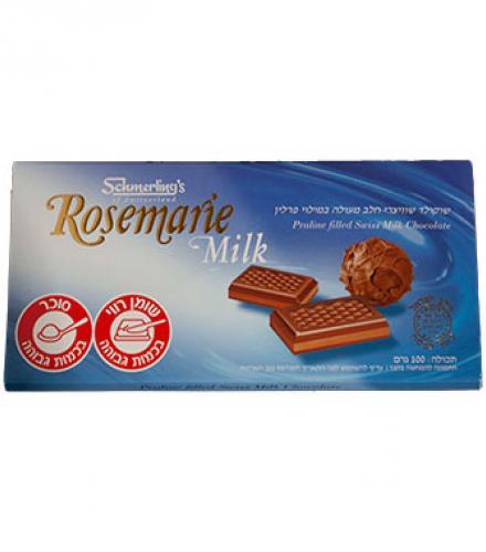 שוקולד שוויצרי חלב מעולה במילוי פרלין - רוזמרין מילק -  שמרלינג