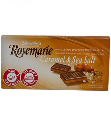 שוקולד שוויצרי חלב מעולה בטעם קרמל עם מלח ים - רוזמרין שמרלינג