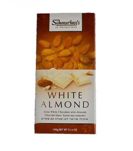 שוקולד שוויצרי לבן מעולה עם שקדים - שמרלינג
