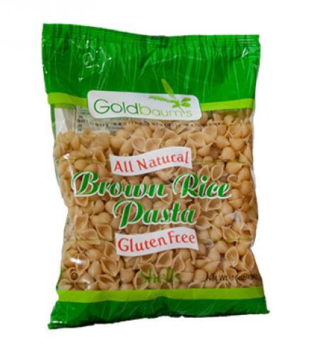 פסטה צדפים מאורז חום ללא גלוטן 454 גרם Goldbaum's