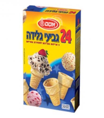 גביעי גלידה ממותקים 24 יחידות - אסם
