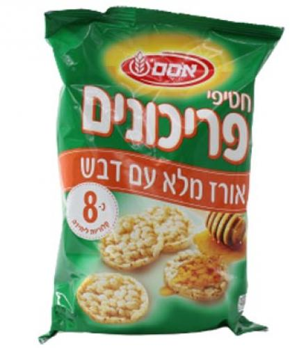 חטיפי פריכונים אורז ודבש 80 גרם - אסם