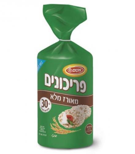 פריכונים עגול אורז דל נתרן 140 גרם - אסם