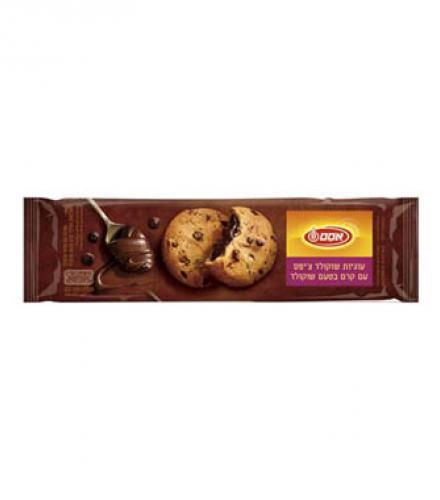 עוגיות שוקולד צ'יפס ממולאות בטעם שוקולד 220 גרם - אוסם