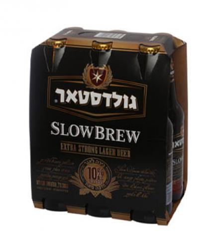 בירה גולדסטאר SLOW BREW 330 מ