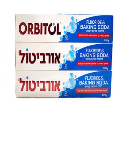 משחת שיניים סודה 145 ג' שלישייה - אורביטול