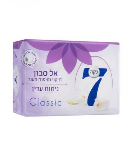 סבון מוצק לניקוי וטיפוח העור בניחוח עדין קלאסי - נקה 7