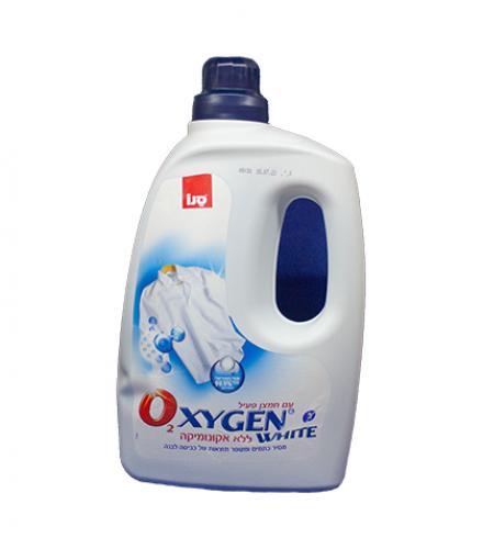אוקסיג'ין מסיר כתמים לכביסה לבנה 3 ליטר - סנו