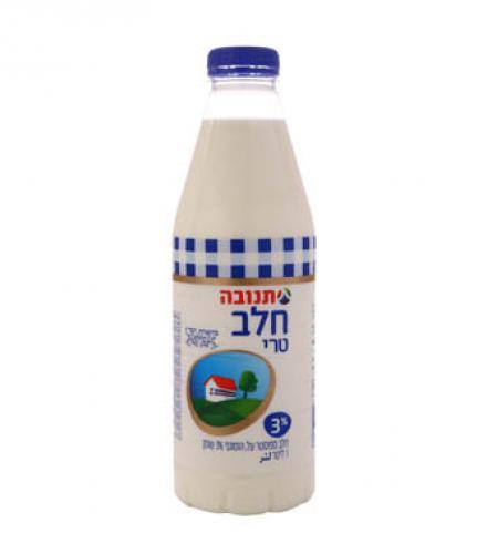 חלב טרי בבקבוק 3% 1 ליטר - תנובה