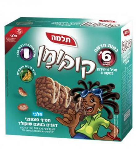 מארז חטיף פיצפוצי דגנים בטעם שוקולד 6 יחי'  קוקומן - תלמה