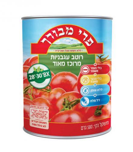 רוטב עגבניות מרוכז מאוד 28% - פרי מבורך