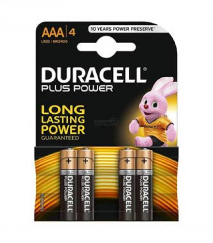 סוללות DURACELL פלוס פאוור AAA רביעיות
