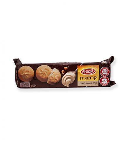 עוגיות קרמוגית במילוי קרם בטעם חלווה 200 גרם - אסם