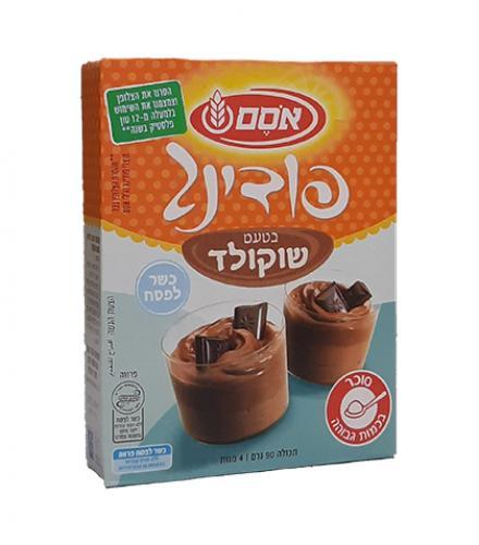 פודינג בטעם שוקולד 90 גרם - אסם