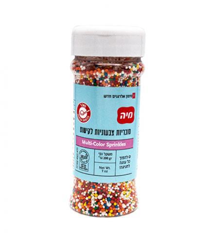 סוכריות צבעוניות לקישוט 200 גרם - מיה