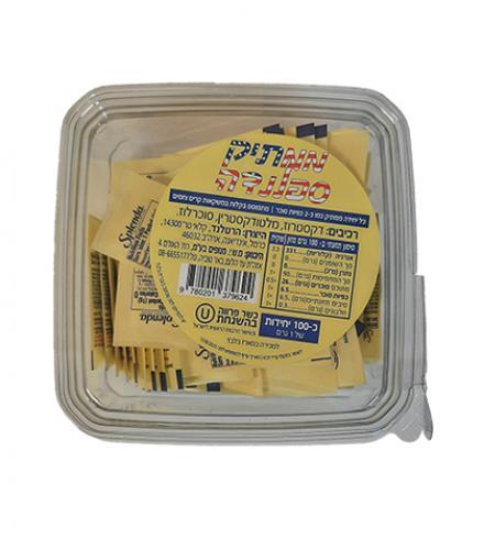 ממתיק ספלנדה 100 שקיקים משקל שקיק 1 גרם