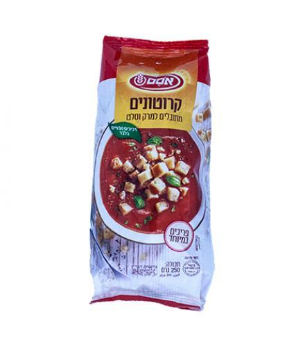 קרוטונים מתובלים למרק וסלט 250 גרם - אסם