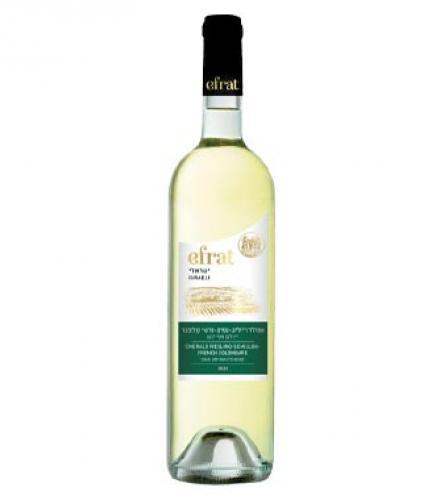 יין לבן חצי יבש אפרת ישראלי 750 מ