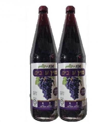 מיץ ענבים 100% ענבים ללא תוספת מים וסוכר 1 ליטר שפע ירושלים  2 ב- 9.90 (תוקף קצר)