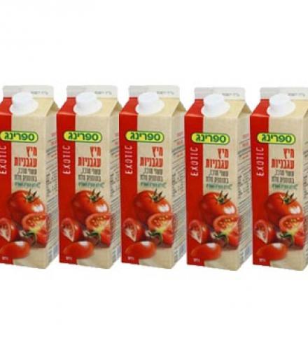 מבצע שלישיית ספרינג נקטר עגבניות בקרטונית 1 ליטר 5 ב- 10 (תוקף קצר)