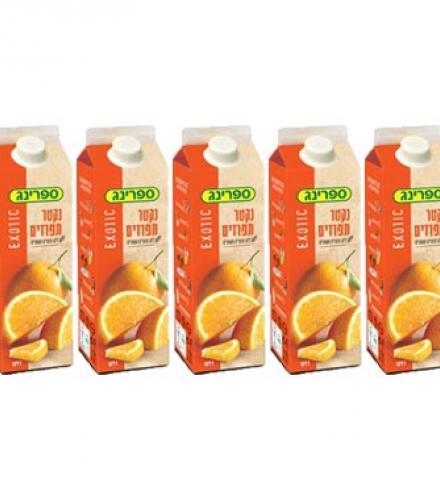 מבצע שלישיית ספרינג נקטר תפוזים בקרטונית 1 ליטר 5 ב- 10 (תוקף קצר)