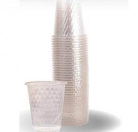 כוסות יהלום שקוף 40 יחידות PP שמאי