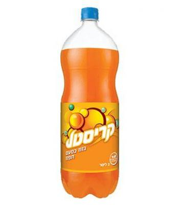 משקה קל תפוזים מוגז קריסטל 2 ליטר