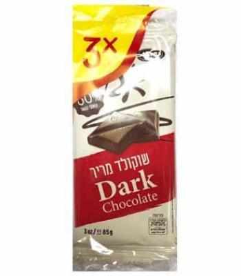 שלישיית שוקולד מריר 3*85 גרם כרמית עד