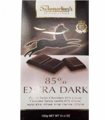 שוקולד שמרלינג שוויצרי 85% אקסטרא מריר בד