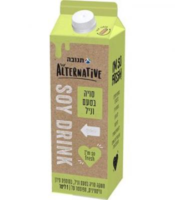 משקה סויה בטעם וניל תנובה אלטרנטיב 1 ליטר