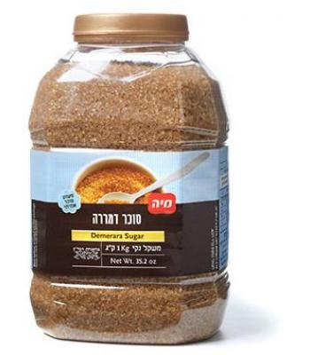 סוכר דמררה בצנצנת 1 ק