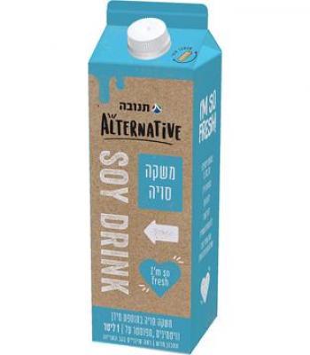 משקה סויה תנובה אלטרנטיב 1 ליטר