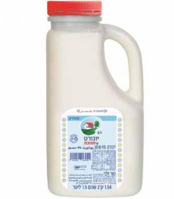 יוגורט 4% בכד תנובה (1.5 ליטר)