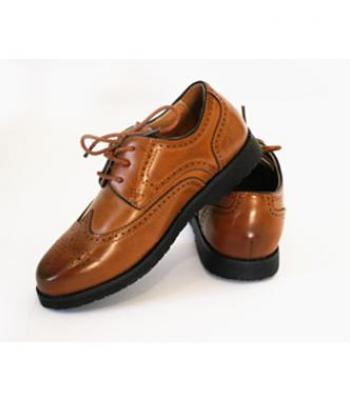 נעל שרוכים עם דוגמא-חום