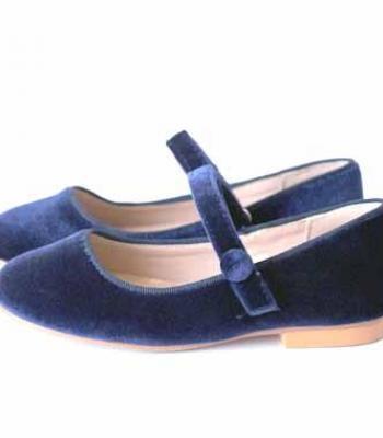 נעל קטיפה כחול עם סקוטש