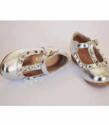 נעלי כסף עם יהלומים