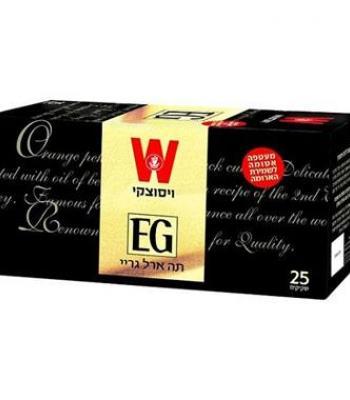 תה ארל גריי 25 שקיקים ויסוצקי כשרות הרב רובין