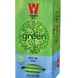 תה ירוק נענע 25 ויסוצקי כשרות הרב רובין