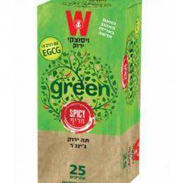 תה ירוק לימונית ג'ינג'ר 25 כשרות הרב רובין